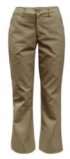 Junior Low-Rise Flare Stretch School Uniform Pants