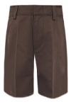 Boys Flat Front Brown Adjustable Waist School Shorts By French Toast