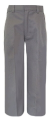 Rifle Boys Flat Front Grey School Pants