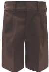 Rifle Boys Pleated Brown School Shorts