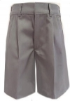 Rifle Boys Pleated Grey School Uniform Shorts