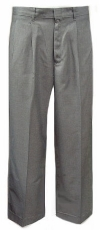Royal Park Young Mens Tri-Blend Gray Pleated Uniform Pants