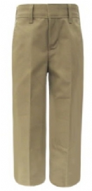 School Apparel Girls Flat Front Brushed Twill School Pants
