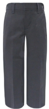 School Apparel Boys Flat Front Brushed Twill School Pants