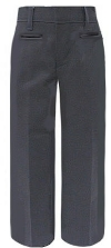 School Apparel Junior Mid-Rise School Pants
