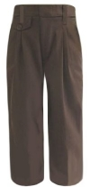 Royal Park Girls Pleated Brown School Pants
