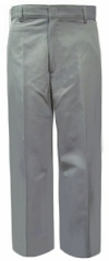 Rifle Young Mens Flat Front Gray Uniform Pants